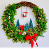Holiday Fresh Wreath by Mimi Lin