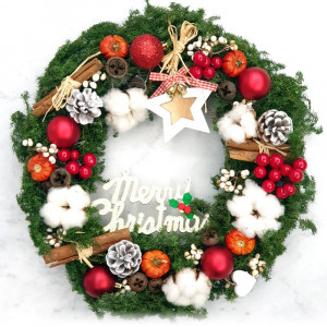 Holiday Dried Christmas Wreath