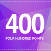 400 POINTS + 50P FREE